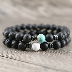 Image Is Loading Long Distance Protection Yoga Beaded Bracelet 8mm Lava