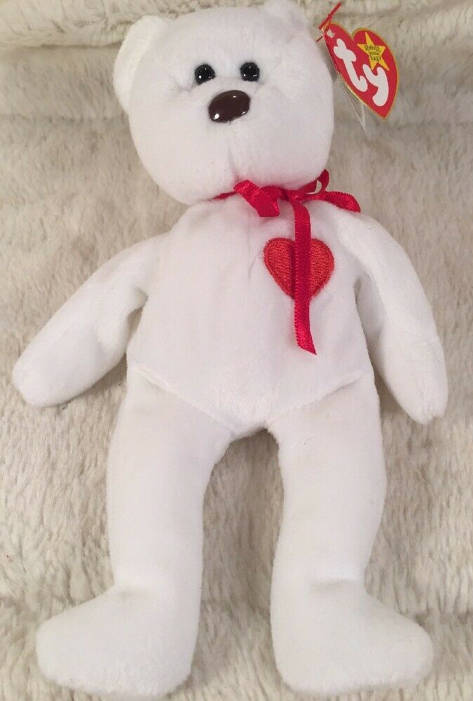 Limited Edition TY Beanie Babies  VALENTINO  Tush Tag 1993 Birth 1994 Retired