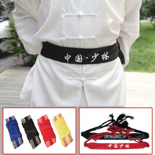 New Shaolin Martial arts Wu shu Belts Kung Fu Wing chun Sashes Waistband Cotton