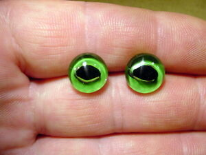 a pair vintage solid Glass Eyes size 11 mm for teady bear age 1910 A 60