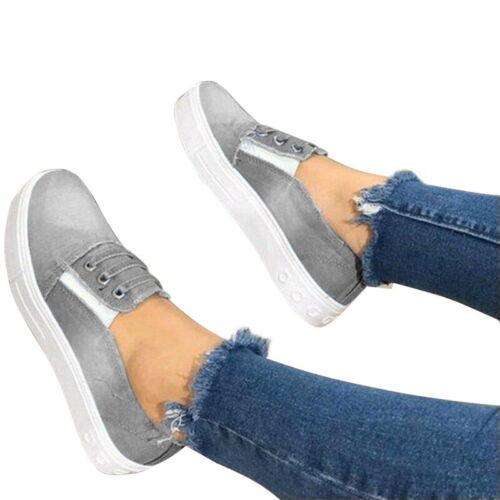 Damen Loafer Turnschuhe Sportschuhe Freizeitschuhe Flache Kein Schnürsenkel Mode