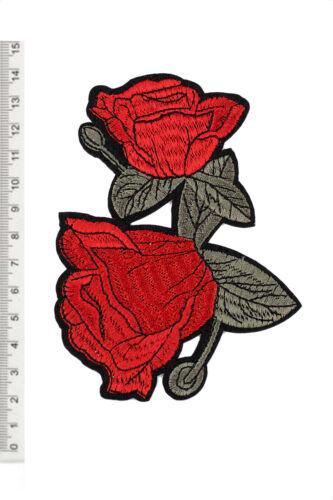 Patches Bügelbild Aufnäherbild Patch Aufnäher Aufbügler Sticker Rosen Logo 22