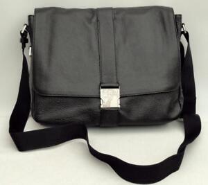 c899cfc5e2a6 Image is loading Versace-Collection-Medusa-Leather-Shoulder-Messenger-Bag -Black