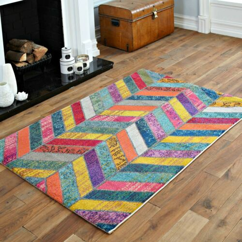 Géométrique Cubes Motif Floral Grande aux petites Moderne Doux Multi couleur tapis vente