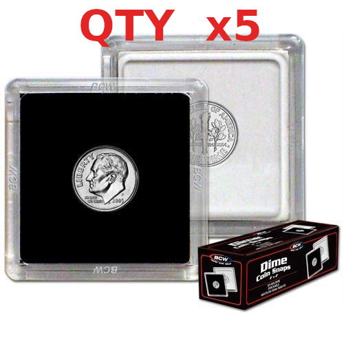 25 Air-tite 18mm White Ring Coin Holder Capsules for Seated Barber Mercury Roosevelt Dimes