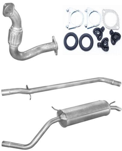 Auspuff Vorderohr Mittelrohr  Endtopf  Renault Megane I 1.9 Diesel 95-02 KIT