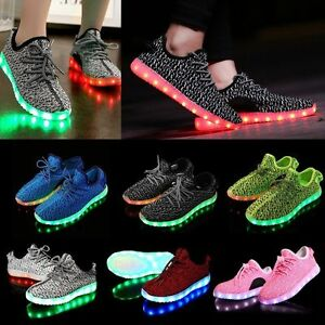 Details About Pair Unisex 7 Led Light Lace Up Luminous Shoes Sportswear Sneaker Casual Shoes