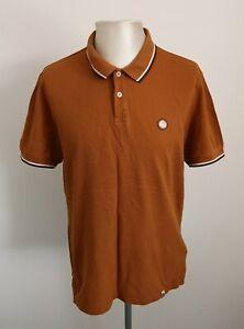 Herren-Pretty-Green-Orange-Polo-Shirt-Top-VGC-Groesse-XL