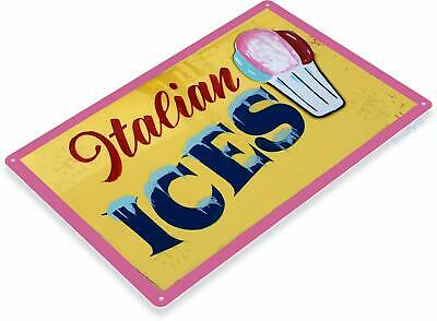 Italian Ices Carnival State Fair Food Concessions Metal Sign