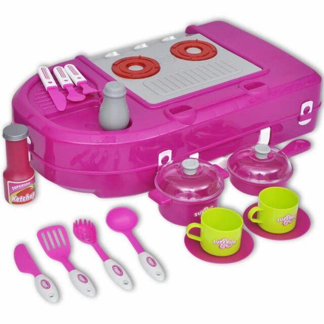 Vidaxl cucina Giocattolo per Bambini con effetti Lucesuoni Rosa