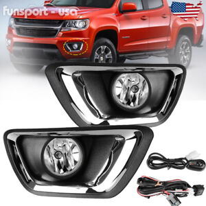 For 2015 2018 Chevy Colorado Clear Bumper Fog Lights Lamps W Wiring