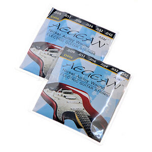 2-Sets-Durable-Nickel-Aolloy-Wound-Electric-Guitar-Strings-009-042-Inch