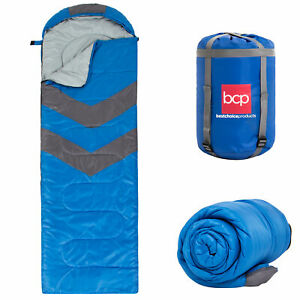 BCP 4-Season 20F Lightweight Sleeping Bag w/ Carrying Case - Blue