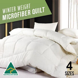 Single-Double-Queen-King-Super-King-400GSM-Winter-Weight-Microfibre-Quilt