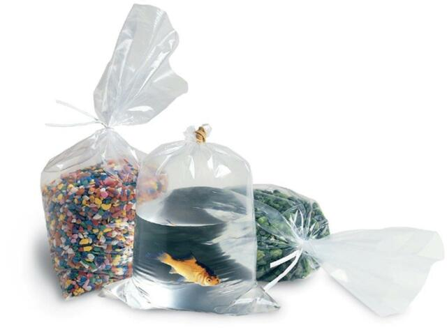 500 9x12 Clear Flat Poly Open End Stock Bags Plastic Shipping Supplies