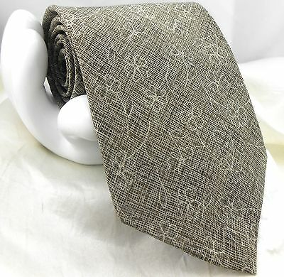 "DKNY Donna Karan Men's Silk Tie Floral Check 3 7/8""x 56"" Gray & Green"