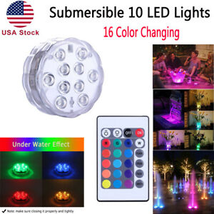 Submersible LED Lights RGB Multi Color Changing Waterproof Lamp /& Remote Control