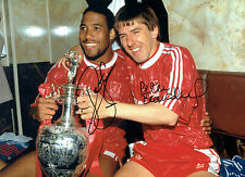 Peter BEARDSLEY & John BARNES Signed Autograph 16x12 Liverpool Photo AFTAL COA