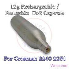 12g Rechargeable Reusable Co2 Cartridge Cylinder Airgun BB Pistol Crosman 2240