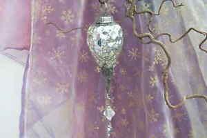 Bauernsilber Christbaumkugeln.Details Zu Christbaumkugeln Weihnachtsschmuck Bauernsilber Glas Silber Waben Metall Perle