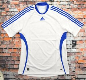 Adidas Herren Fussball Trikot Training's T-Shirt Laufshirt Sport Men weiss/blau