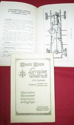 Lorraine Dietrich : Notice D'entretien 15 Hp 6 Cylindres Reprint Garantire Un Aspetto Simile Al Nuovo In Modo Indefinibile