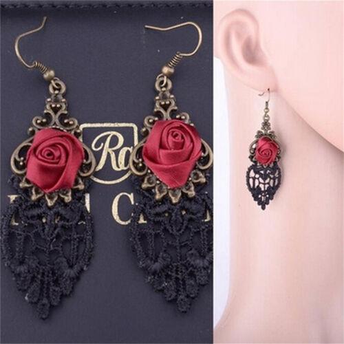New Fashion Aestheticism Gothic Victorian Retro Lace Vintage Pendant EarringRI