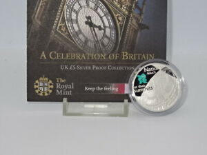 Royal Mint 2009 London 2012 Big Ben Silver Proof £5 Coin & COA