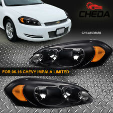 Amber Corner Clear Lens Headlights Fit For 06 13 Chevy Impala06 07 Monte Carlo Fits 2006 Impala
