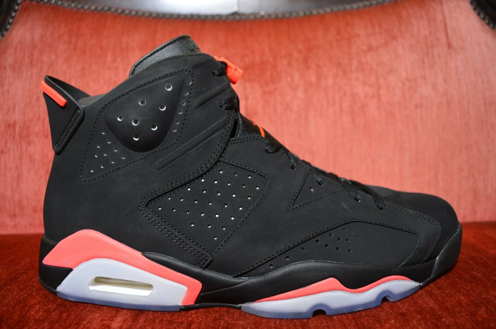 half off 07639 ddc17 New Nike Air Jordan 6 6 6 VI Black Infrared 23 Men s Size 13 384664 023