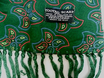Tootal Scarf Green Large Geometric Pattern Vintage tooA162