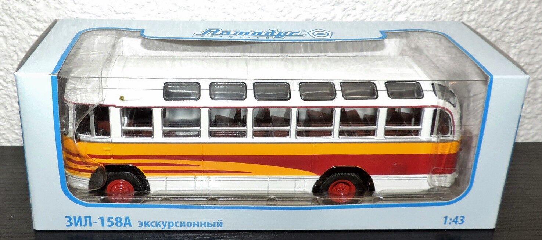 NEU Model russischer Bus ZIL 158A in 1 43 weiss-gelb-rot, USSR in OVP