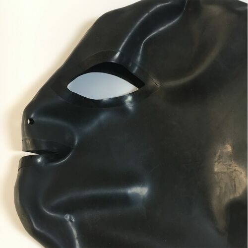 Latex Hood Handmade Rubber Mask for Catsuit Cosplay Club Wear Costumes