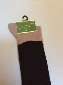 5ab94abdfcf Image is loading 12-Kate-Spade-Metallic-Knee-Socks-Black-Bin10