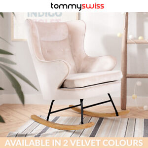 Velvet Fabric Rocking Chair Nursery