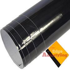 3m x 75cm BLACK HIGH GLOSS Vinyl Wrap Car Sticker Decal Strip+ FREE SQUEEGEE
