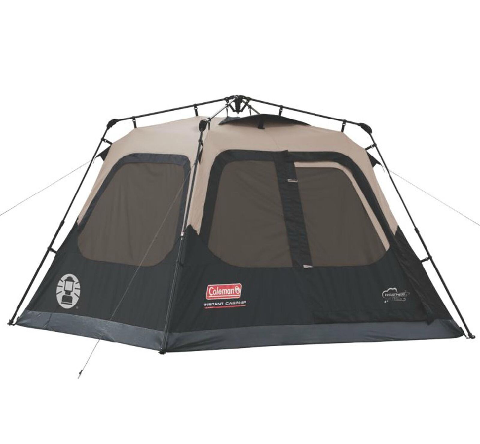 Coleman Outdoor Family Camping 4 Person 8 x  7 Foot Waterproof Instant Cabin Tent  healthy