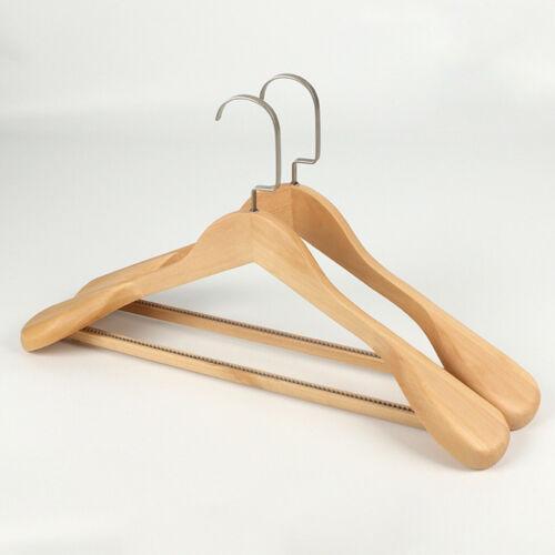 UK Solid Wood Suit Hanger High-Grade Wide Shoulder Wooden Coat Hangers