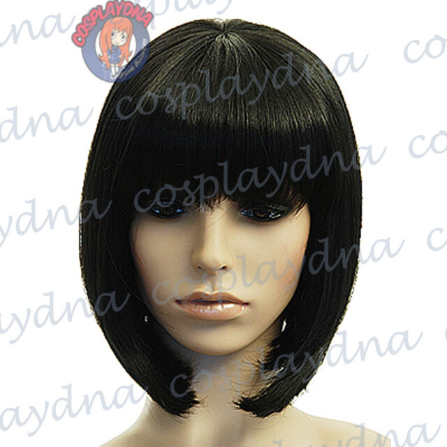 12 inch Hi_Temp Series Black A-Line Bob Short Cosplay DNA Wigs 91001