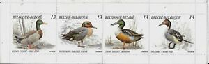 BELGIUM-1989-DUCKS-BOOKLET-PANE-SG-2992a-SET-4-MNH