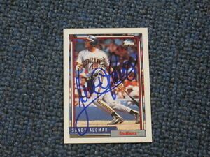 Details About Sandy Alomar Autographed Baseball Card Jsa Auction Certified