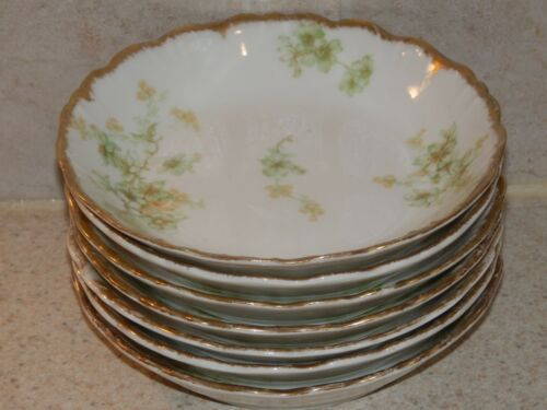 BAWO AND DOTTER CHINA LIMOGES FRANCE BWD456 7 FRUIT SAUCE BOWLS 5 18""