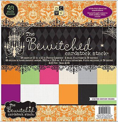 "DCWV 12""x12"" Cardstock Stack BEWITCHED ~ SOLIDS  Halloween,Spooky ~ CP-002-00863"