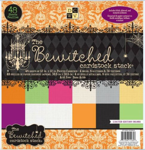 """DCWV 12/""""x12/"""" Cardstock Stack BEWITCHED ~ SOLIDS  Halloween,Spooky ~ CP-002-00863"""