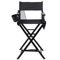 Professional Makeup Artist Directors Chair Wood Light Weight Foldable Black on sale