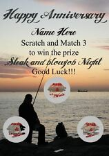 Steak and blowjob Anniversary fishing greeting card personalised codefishhumour