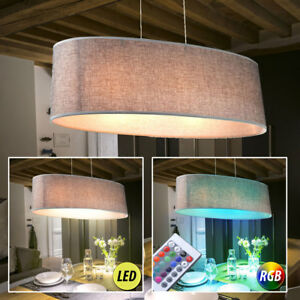 Led decken h nge lampe textil esszimmer rgb fernbedienung pendel leuchte dimmbar ebay - Esszimmer lampe dimmbar ...