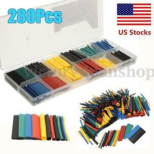 280x-Heat-Shrink-Wire-Wrap-Assortment-Set-Tubing-Electrical-Connection-Cable-US
