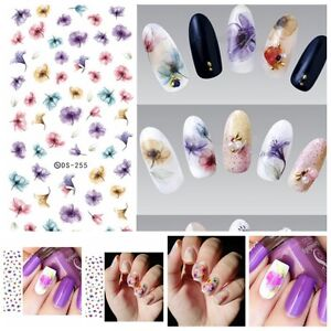 1PC-Sheet-Chinese-Ink-Flowers-Nails-Art-Stickers-Beautiful-Water-Transfer-Decals