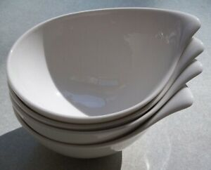 SET-OF-4-Villeroy-amp-Boch-Flow-6-1-2-034-x-5-034-FRUIT-CEREAL-DESSERT-BOWLS